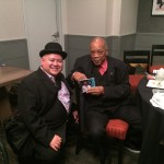 Ray Zepeda and Quincy Jones with Step By Step CD - Monk Competition Afterparty - Loews Hollywood Hotel 11/15/2015